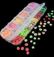 Fruit Slice Soft Pottery Slice Diy Material Crystal Mud Filling Slime Jewelry Nail Accessories