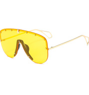 Personalized Rivet One-Piece Large-Frame Sunglasses
