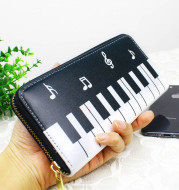 New Style Ladies Wallet Clutch Bag Piano Note Coin Purse Wallet