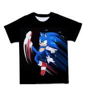 Sonic The Hedgehog 3D Printed T-shirt Casual