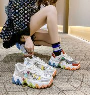 Breathable Mesh Sneakers With Small Thick Soles