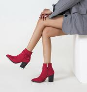 Chunky Heel High Heel Short Boots Martin Boots