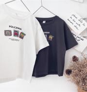 Children's Cartoon Print Short-Sleeved T-Shirt