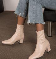 Women's Boots Autumn And Winter Warm Mid-Heel Thick Heel Short Boots Martin Boots Women