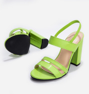 One Word Buckle Back Empty Sandals 2019 New Foreign Trade European And American High-Heeled Fashion Summer Sexy Stiletto Ladies Sandals