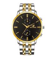 Simple Scale Men'S Business Activity Gift Watch Binocular Fake Press Alloy Steel Band Watch Men'S Wholesale