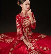 Wedding Bridal Toast Dress Plus Size Chinese Wedding Dress