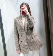Women's New Houndstooth SuitJacket Small Suit