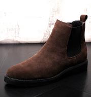 Short Cowboy Boots And Velvet Warm Men's Shoes