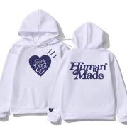 Human Made Fleece Hoodies Sweatshirt Men Women Cotton Girls