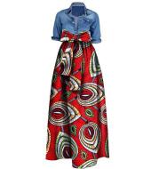 African women''s skirt cotton batik printing skirt cross border e-commerce supply factory supply