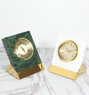 Nordic Model Room Titanium Marble Clock Ornaments