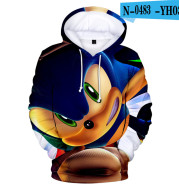 Game Series For Men And Women Trendy Sonic The Hedgehog Cartoon Hooded Sweater