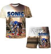 Sonic Children's Suit T-shirt Shorts Two-piece Suit