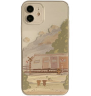 Oil Painting Mobile Phone Case All-inclusive Protective Cover Transparent Soft Shell