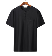 Middle-Aged Men's Short-Sleeved T-Shirt Summer Round Collar Middle-Aged