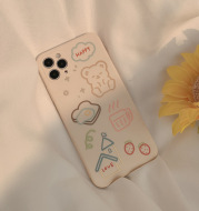 The Bear Bread Is Suitable For Apple 12 11pro Max Mobile Phone Case IPhone Case Fine Hole Xs Silicone XR 8