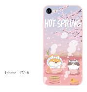 Homemade Embossed Silicone All-inclusive IPhone Case For Lovers Fairy Soft Girl