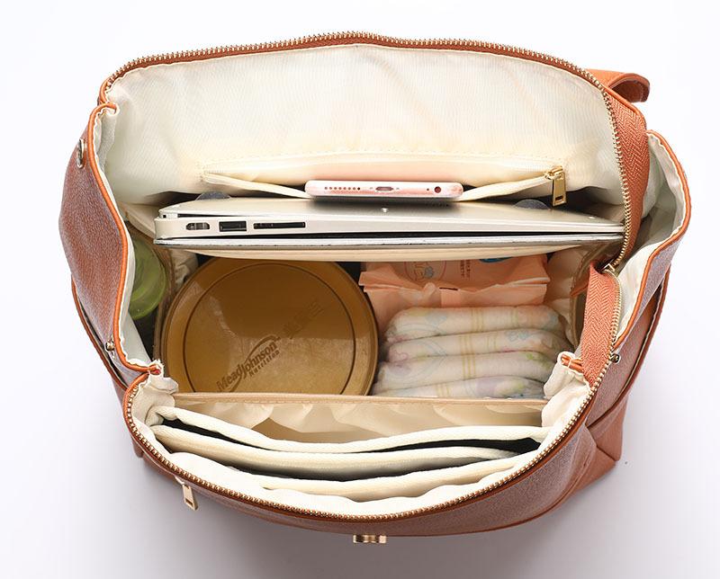 Lexi Nappy bag Backpack inside