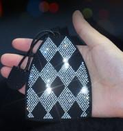 Diamond-encrusted Car Key Pendant
