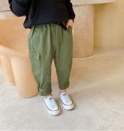 Xiaojiejia Boys Workwear Pants Autumn 2020 New Children's Casual Pants Trousers Medium And Small Kids