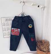 Jeans Middle And Small Children's Casual Pants Children's Feet