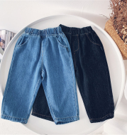 New Children's Jeans Boys' Trousers Loose Korean Edition