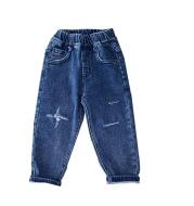 Boys  Fleece Jeans Straight Trousers Trendy Children s Clothing