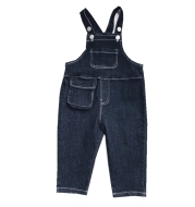 Xiaojie Boys' Solid Color Denim Overalls 2020 Autumn New Children's Korean Denim Pants Trend