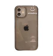 Simple Transparent Smiling Face For iPhone 12pro Max Apple 11 case X XS couple 8plus female XR