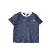 New Summer Boy T-Shirt Baby Short-Sleeved Children'S Striped Round Neck T-Shirt Loose And Versatile Compassionate