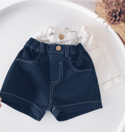 Children'S Clothing Spring And Summer Boys And Girls Jeans New Hot Pants Children'S Casual Five-Point Pants Baby Pants