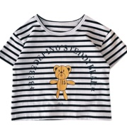 Children's Spring New T-Shirt Baby Short Sleeves Bear