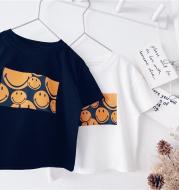 Boys Short-Sleeved t-Shirt 2021 New Wild Baby Summer Cotton Bottoming Shirt Short-Sleeved Top