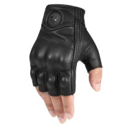 Motorcycle Half-finger Gloves Motorcycle Riding Leather Fingerless Four Seasons Breathable Racing Rider Equipment Male