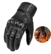Men'S Winter Motorcycle Leather Gloves