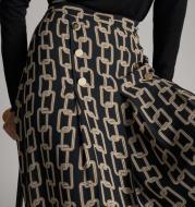 Spain Single Spot 2021 Spring And Summer New High Waist Slim Chain Print Skirt
