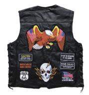 American Harley Vest Leather Vest Men's Motorcycle Vest