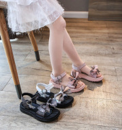 Fashion Children's Shoes Girls Bow Shoes