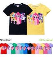 My Little Pony Girls' Short Sleeve T-shirt Cotton Top Half Sleeve