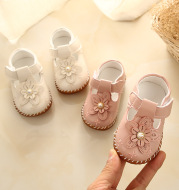 Children's Small Leather Shoes With Tendon Sole