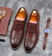 European And American Men's Fashion Business Casual Leather Shoes