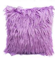 Simple Style Net Red Beach Imitation Wool Pillowcase Plush Gradient Hug Pillowcase Cushion Cover Wholesale