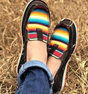 Shallow Mouth Flat Shoes Women's Large Size Two-color Bottom Lazy Color Matching Casual Shoes