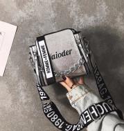 All-Match Messenger One-Shoulder Letter Wide Shoulder Strap Fashion Casual Bucket Bag