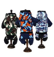 Pet Clothes Autumn Winter Camouflage Hooded Pet Clothing