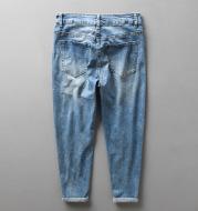 Jeans Men's Autumn Cotton Cropped Trousers