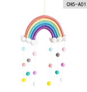 Children's Room Decoration Pendant Woven Clouds Rainbow Pendant Wall Decoration Pendant