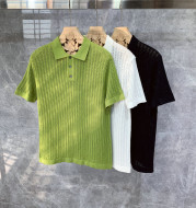 Handsome High-end Knitted Short-sleeved Polo Shirt