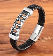 Leather Leather Braided Bracelet, Leather Bracelet, Custom Leather Bracelet, Men'S Cowhide Jewelry